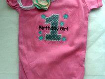 Birthday Girl Body zum 1. Geburtstag Fairtrade