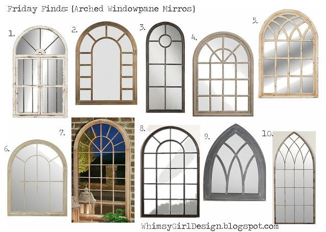 arched window pane mirrors with shopable links - Window Frame Mirror