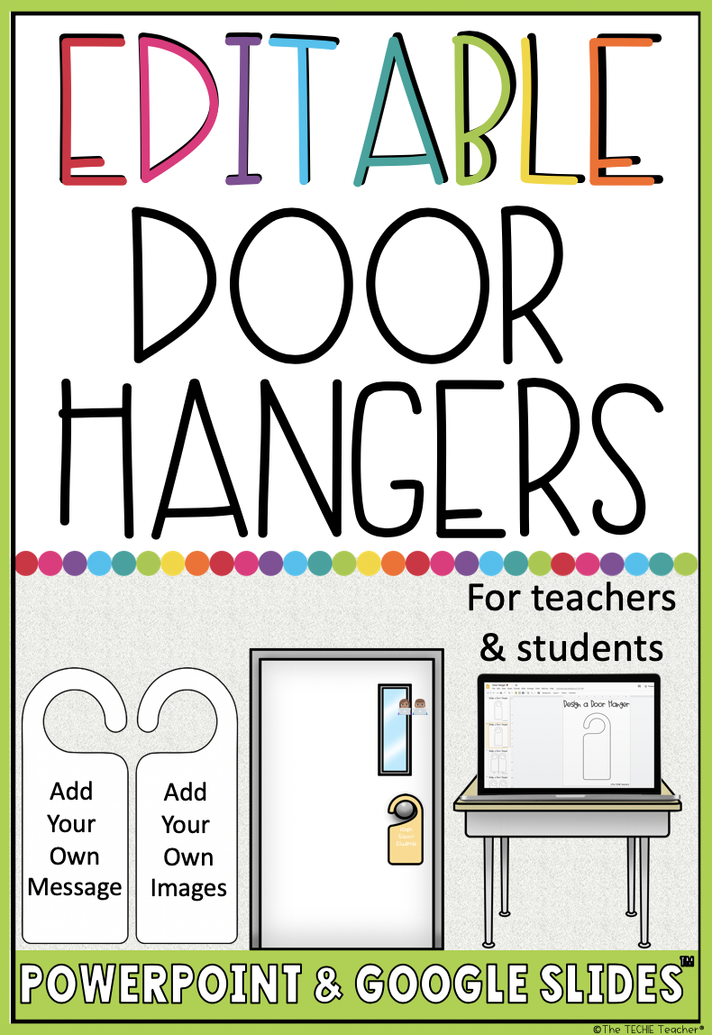Pattern Back to school Block Poster Teacher Door Hanger Template