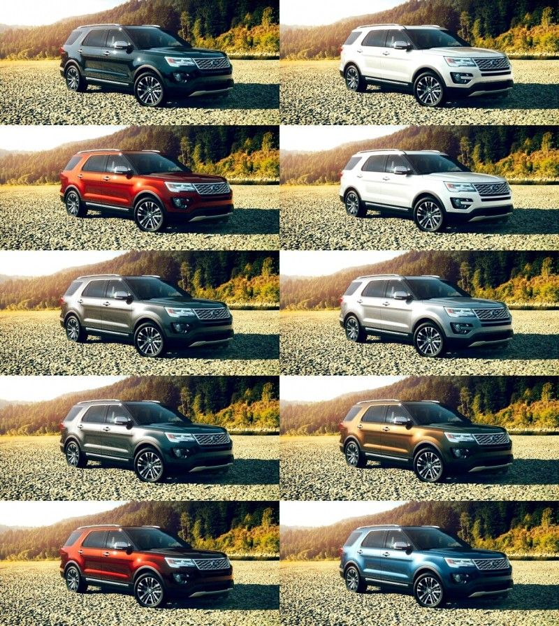 New Ford Vehicles For 2016: 2016 Ford Explorer Colors