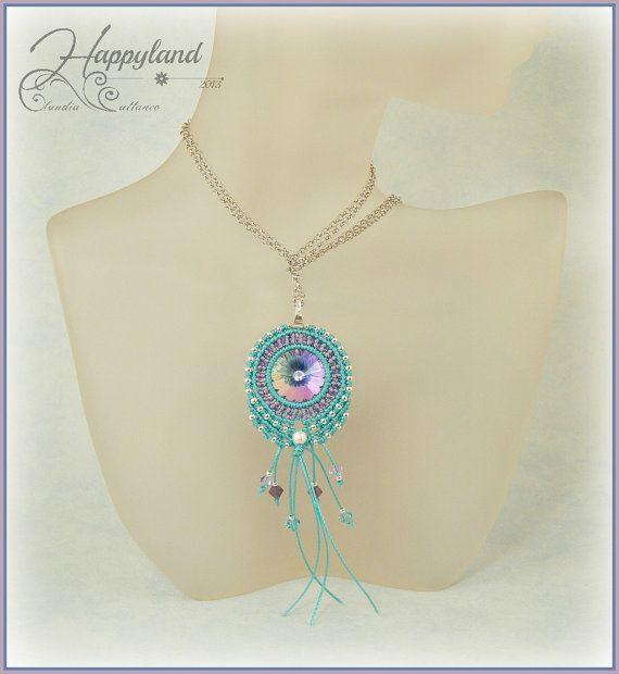 Cheyenne  micro macrame pattern for earrings or pendants