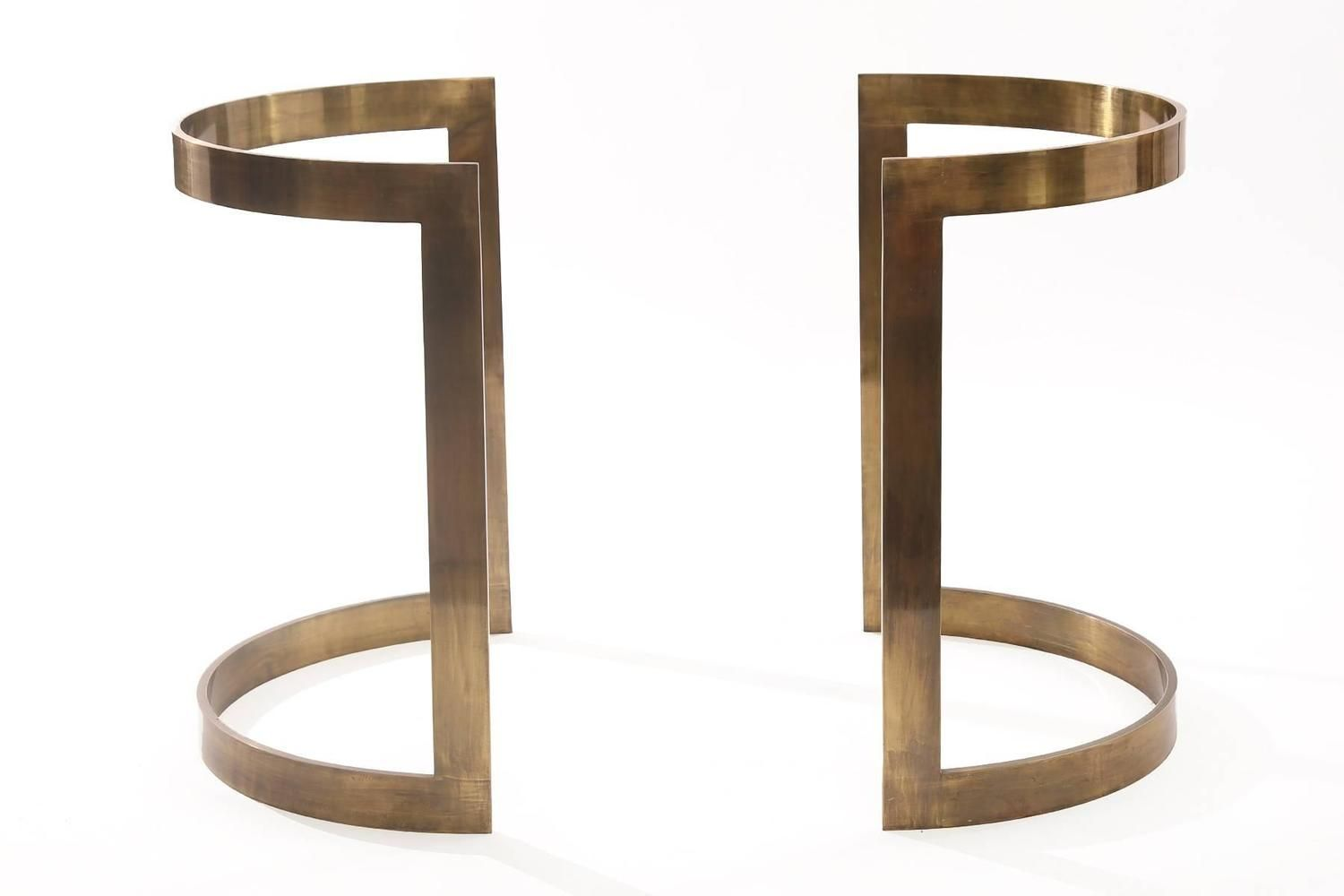 Milo Baughman Bronze and Glass Dining Table image 3