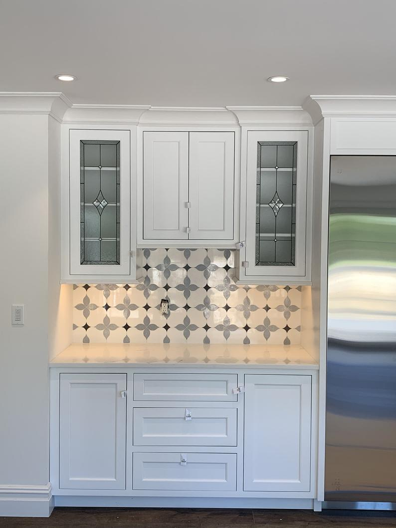 unique custom made kitchen cabinet glass inserts classico etsy in 2020 kitchen cabinets on kitchen cabinets glass inserts id=82832