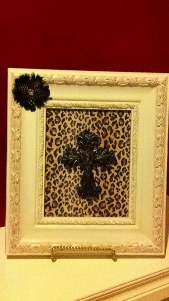 I saw a similar pin of a framed cross and decided to make one myself ...