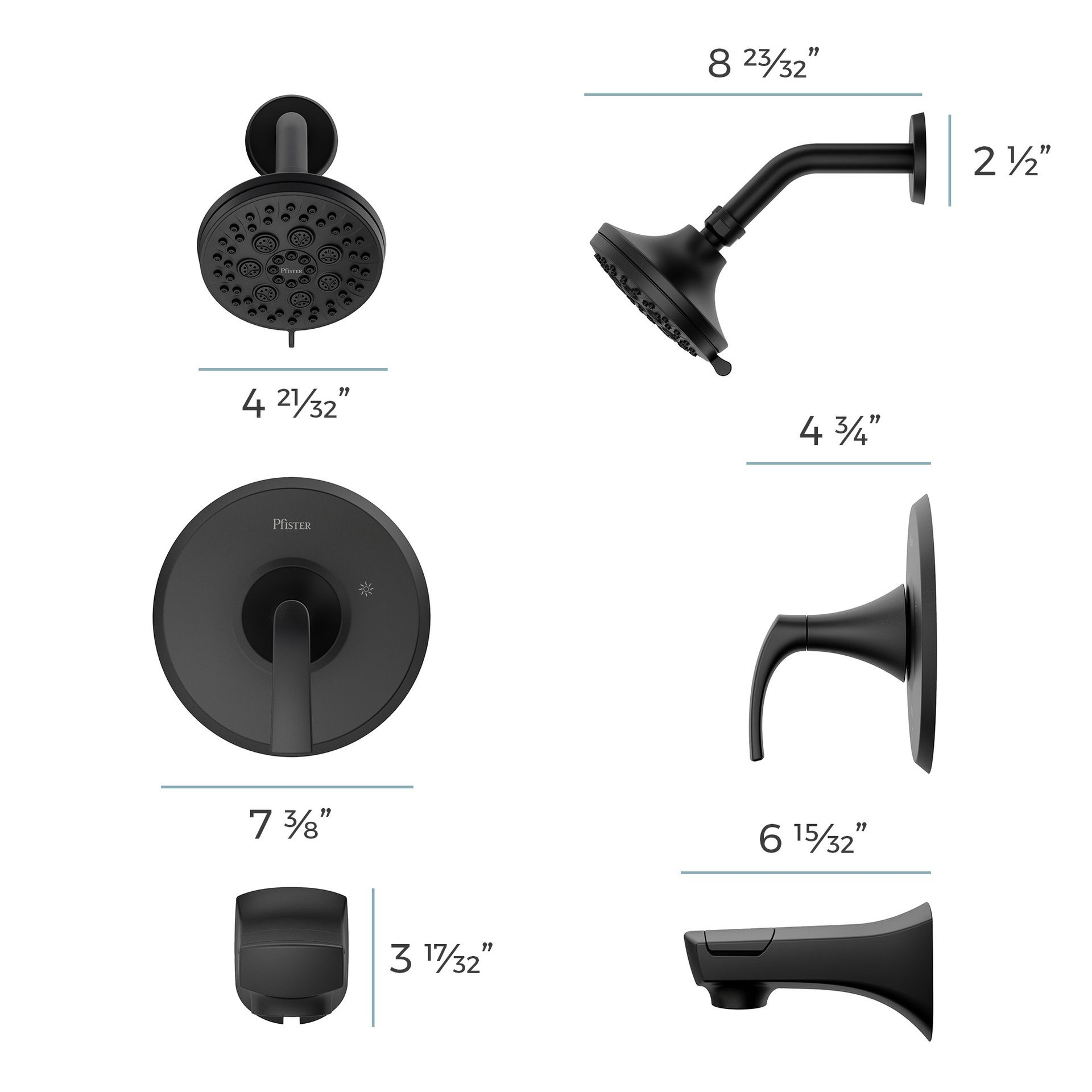 pfister karci matte black 1 handle