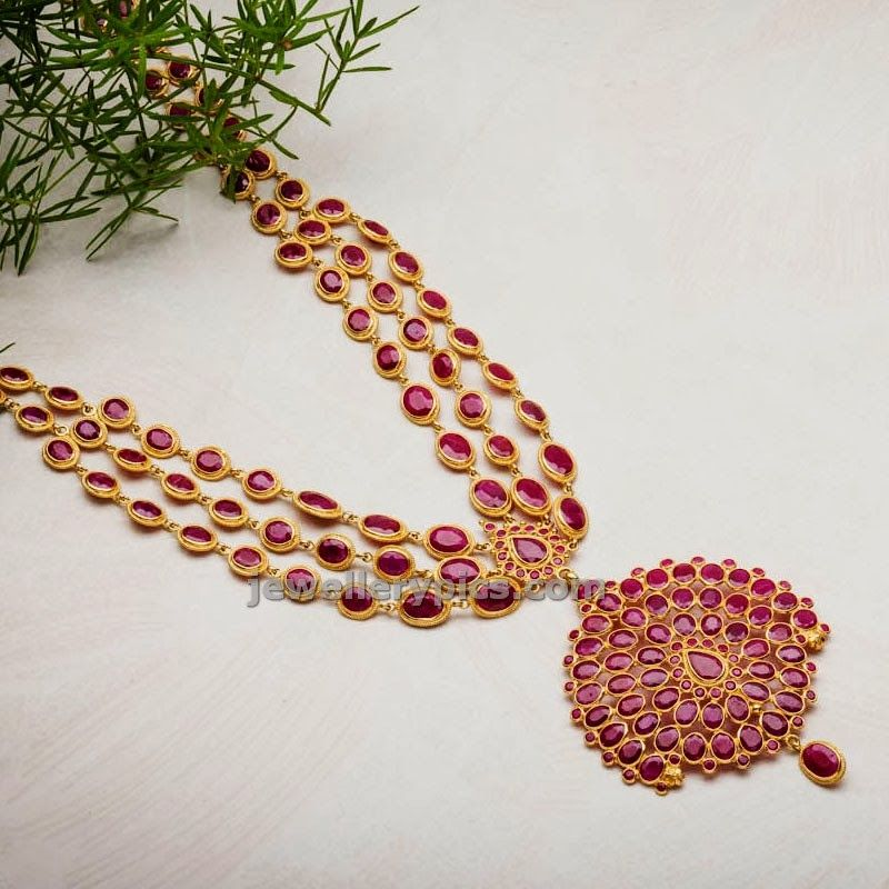 avr swarnamahal ruby haram | be-JEWELed! <3 <3 <3 | Pinterest ...