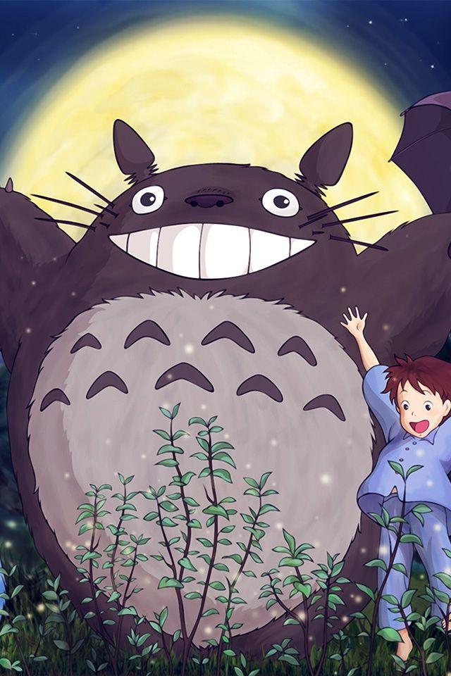 FreeiOS7 - au60-totoro-forest-anime-cute-illustration-art-blue - http://bit.ly/2ijkNvq - freeios7.com