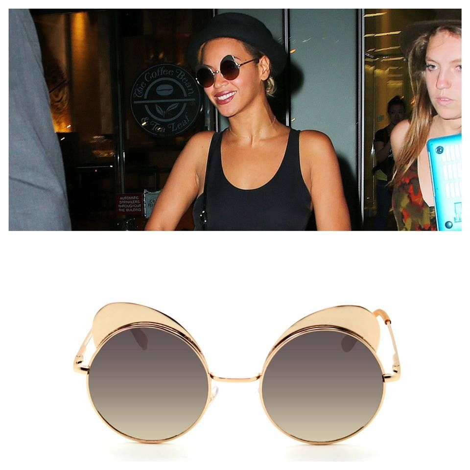 9174f4c4b9a Beyonce rocking the Quay Eyeware Yibrow glasses.