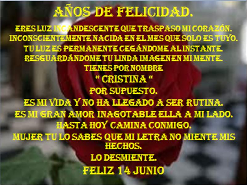 """"""" años de felicidad """""""