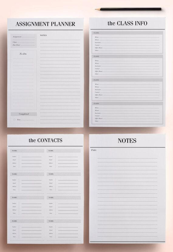 wwwetsy dk-en listing 218390582 student-planner-a4-a5 - student agenda template