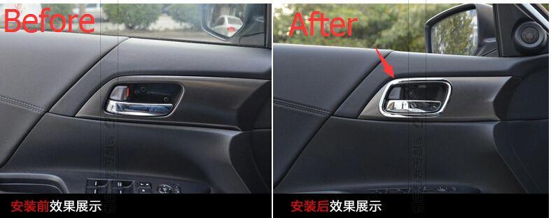 Chrome Inner Door Handle Bowl Cover Trim 4 Pcs For Honda Accord 2013 2014 2015 Honda Accord Honda Auto
