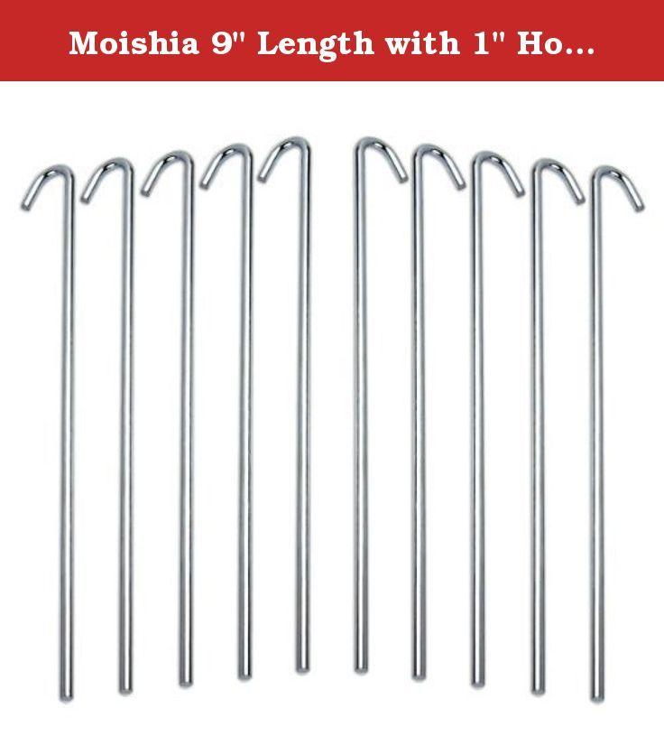 Moishia 9  Length with 1  Hook Galvanized Rust Resistance Steel Lightweight Tent Pegs -  sc 1 st  Pinterest & Moishia 9