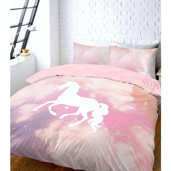 New Look Pink Unicorn Galaxy Tie Dye Print Double Duvet Set 37 Liked
