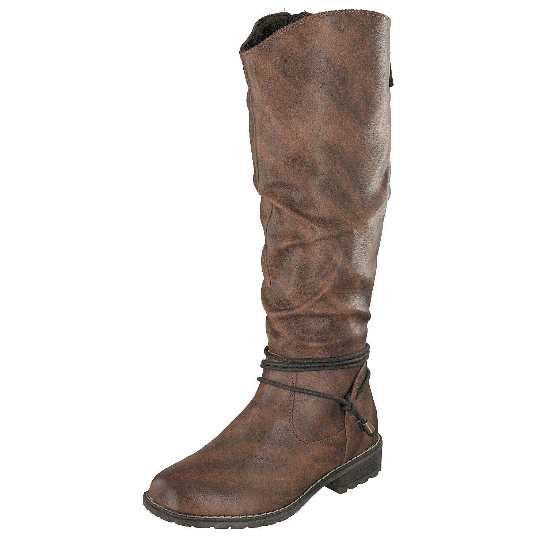 17804b 09 Schuhe Winter 8717 Relife Damen Stiefel Cuoio NvmwO0n8