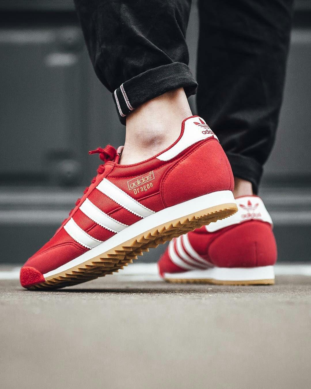 5d8c708afafb2 Adidas Dragon  Red Footwear White Gum3