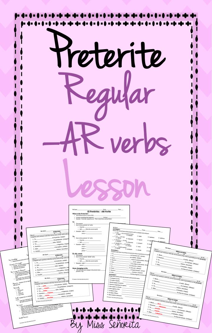 Spanish Preterite Ar Verbs Lesson Verbs Lessons Preterite Preterite Spanish [ 1131 x 720 Pixel ]