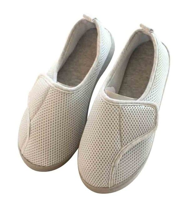 4268ca5a650 Women Slippers Nonslip   Breathable House Shoes for Pregnant- Diabetic-  Edema - Grey - CD185NZMQ7A