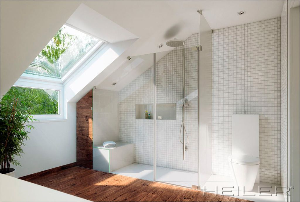 Badezimmer mit Dachschrägen Badezimmer Inspirationen Pinterest