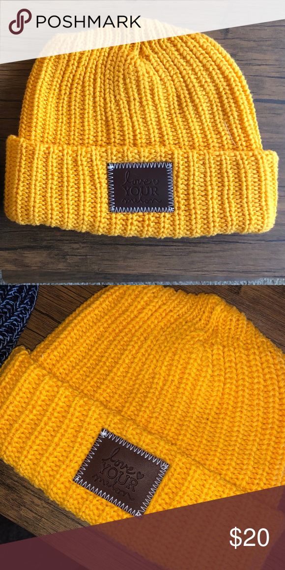 025c925654986 Love Your Melon Beanie Never worn yellow gold beanies Quantity  3 Perfect  condition Love Your Melon Accessories Hats