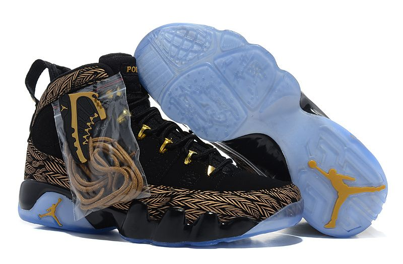Jordan 9 black golden Basketball Shoes
