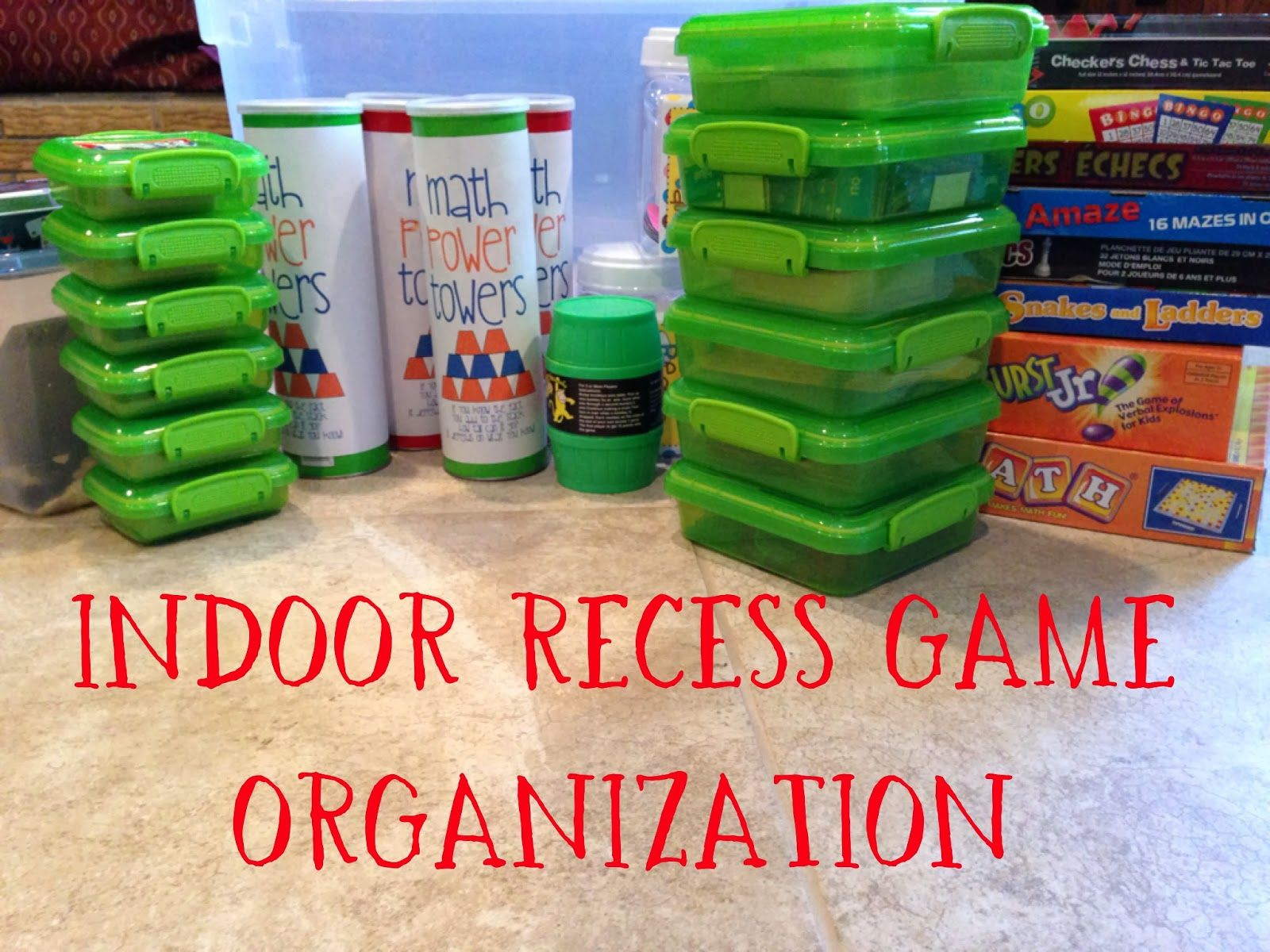 Indoor Recess Game Organization