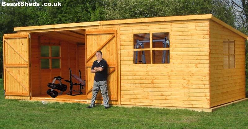 gym sheds garden gyms with free uk delivery and fitting - Garden Sheds Florida