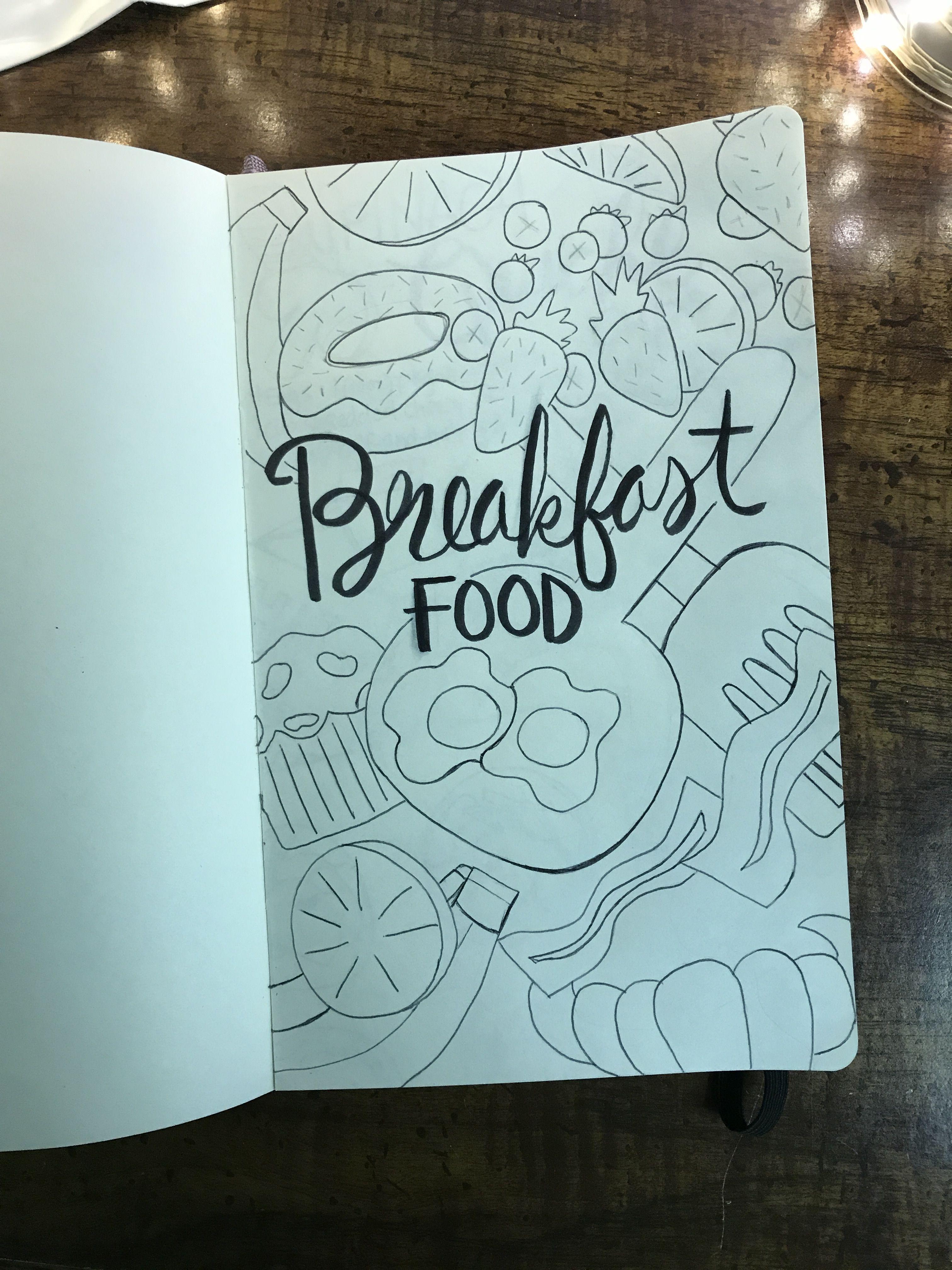 Recipe Art Journal Breakfast Title Title Page By Bujo Adventures
