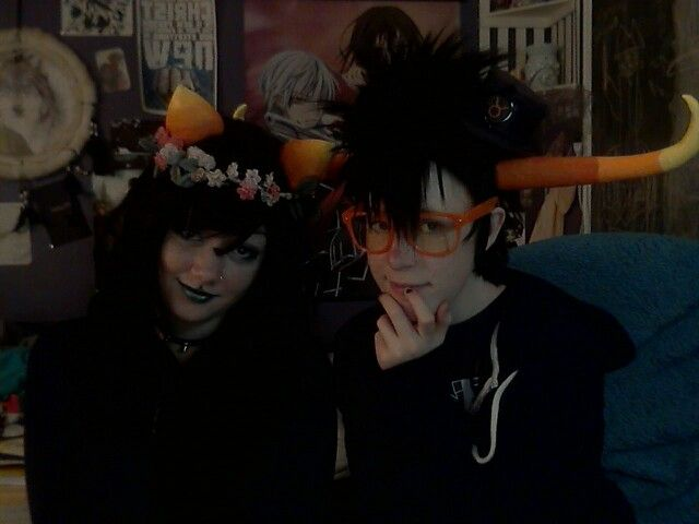 Meulin and Tavros cosplay(Homestuck)