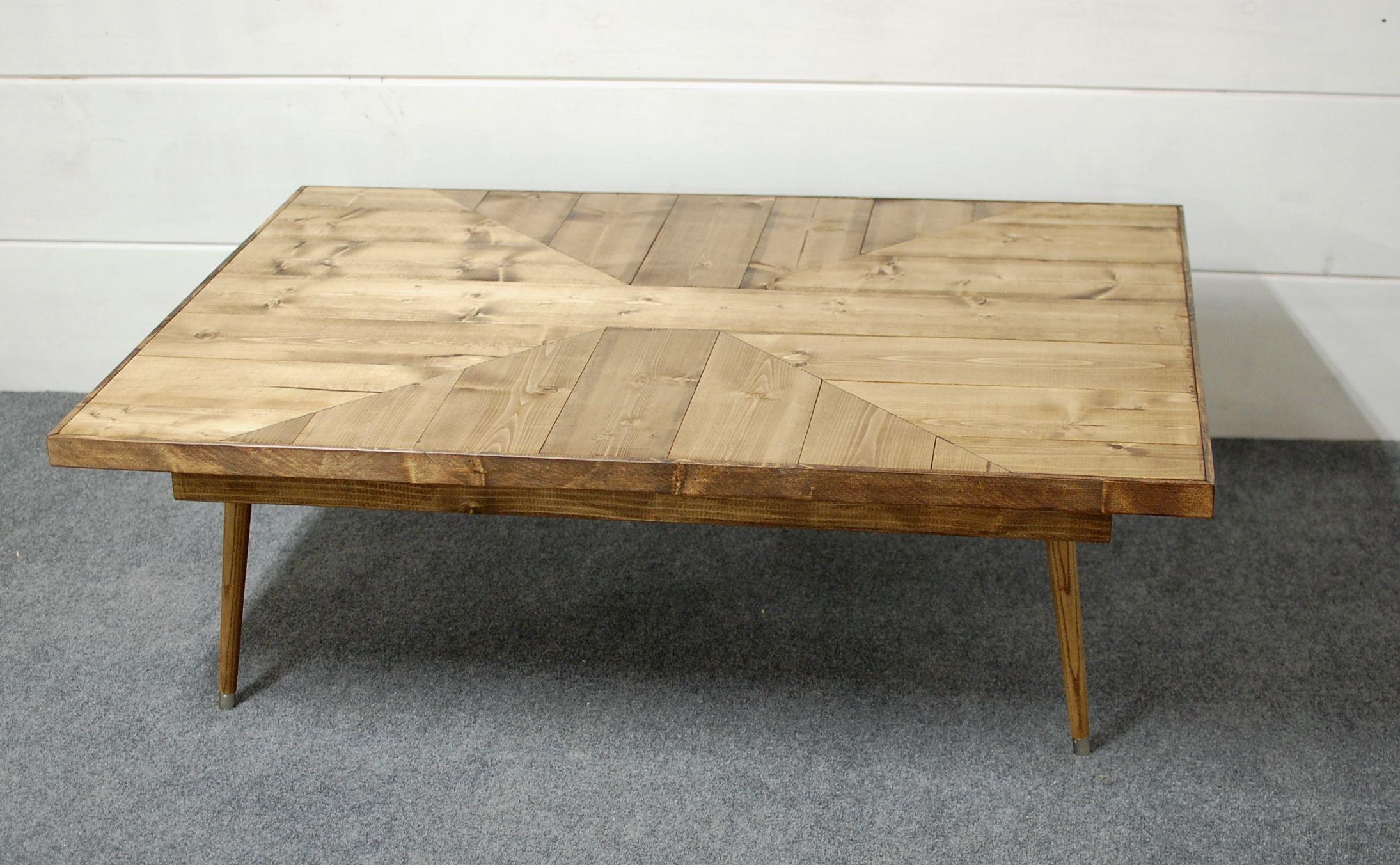 Mid Century Modern Style Coffee Table Wood Pattern Coffee Table Custom Furniture Mid Century Coffee Table Home Decor Furniture Custom Furniture