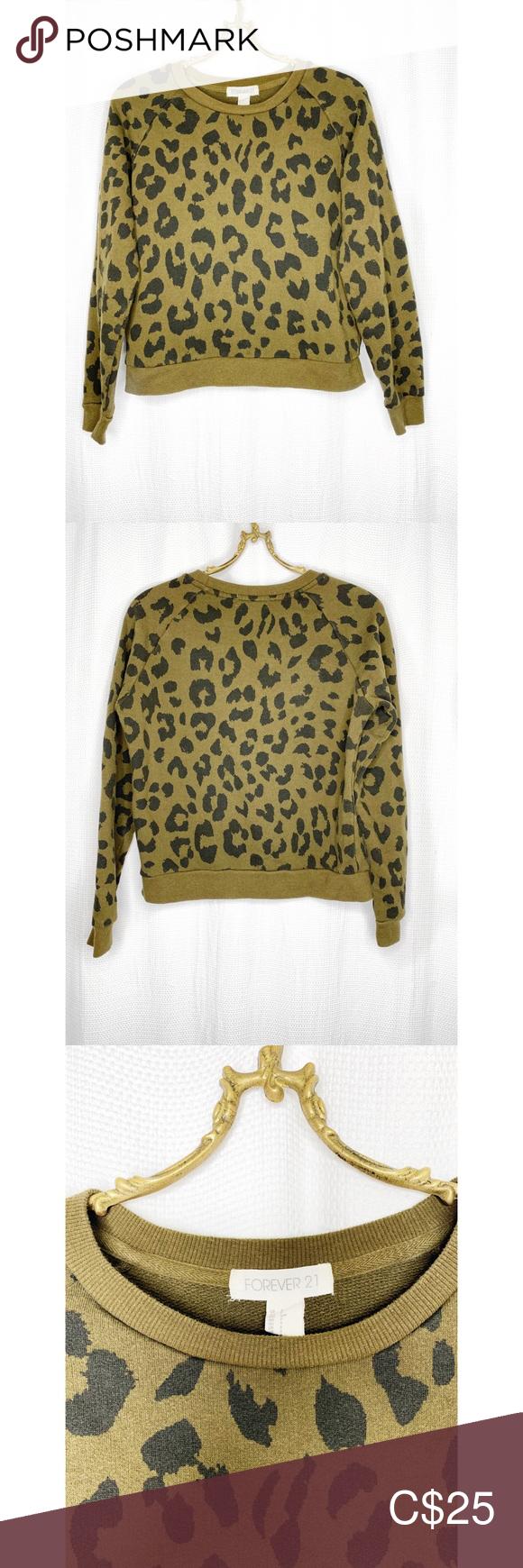 Leopard Print Crew Neck Sweatshirt In 2020 Crew Neck Sweatshirt Tights And Heels Light Denim [ 1740 x 580 Pixel ]