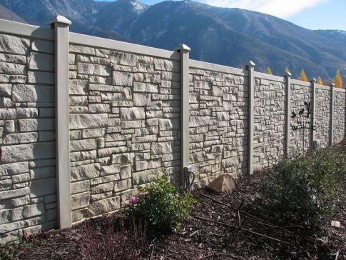 Stone Look Fence (6' w) EcoStone 29.50 per linear foot