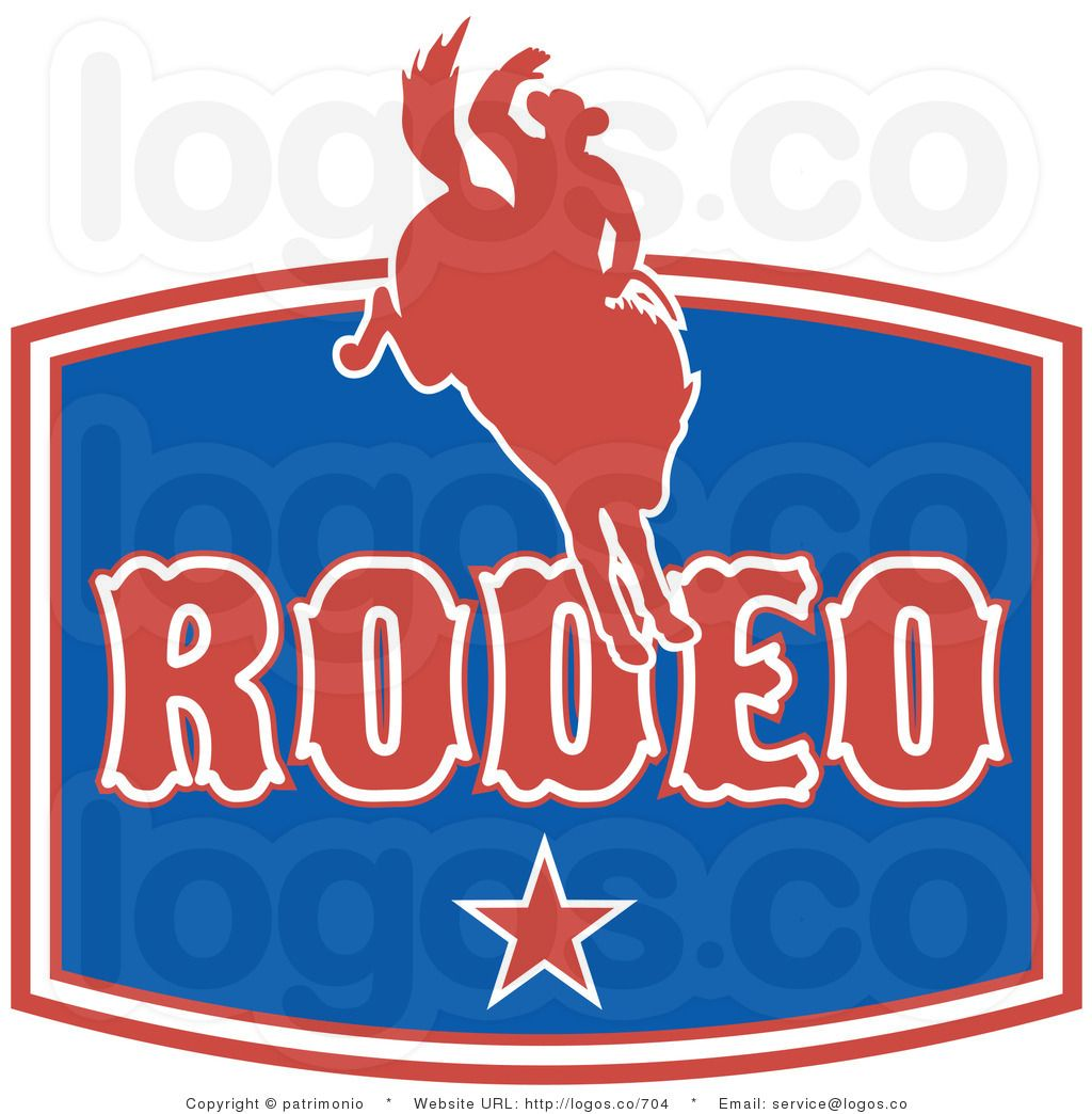 Royalty Free Vector Logo of a Rodeo Sign by patrimonio