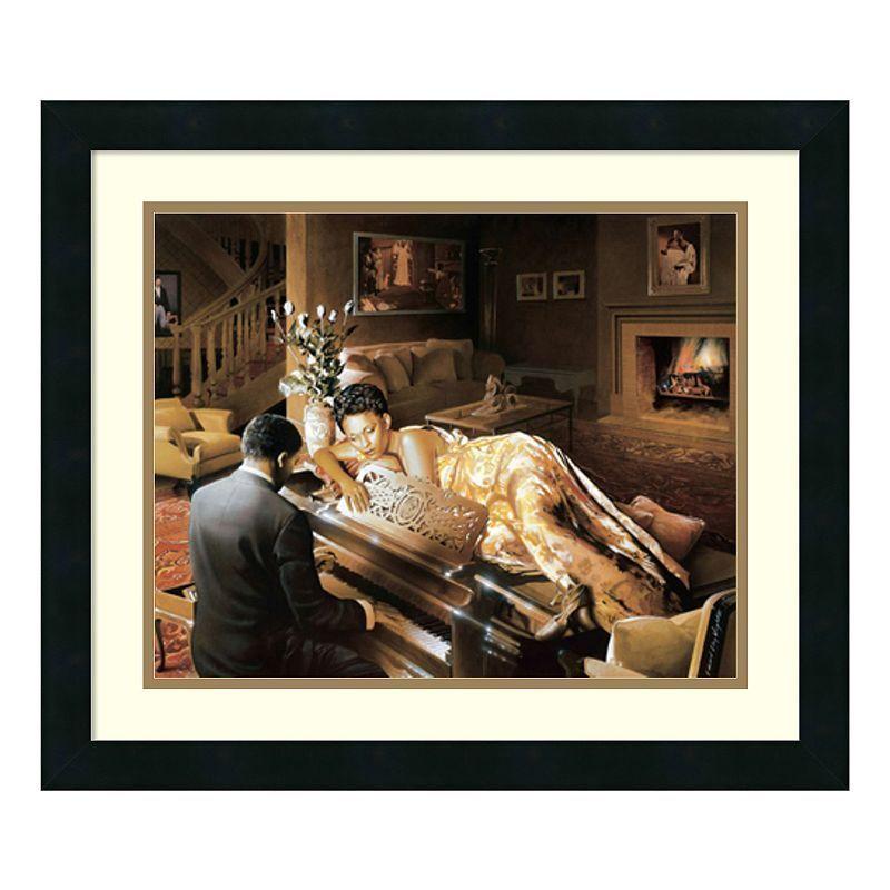 Amanti Art Sonata Framed Wall Art, Black