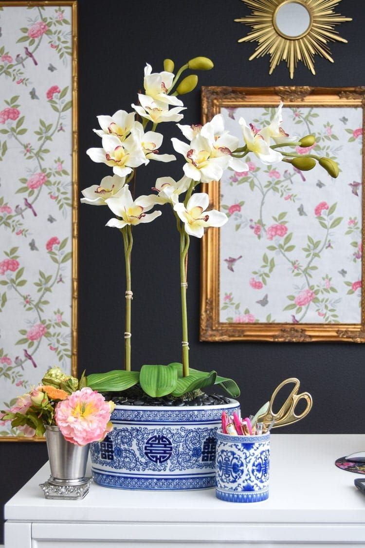 DIY Artificial Orchid Arrangement Artificial orchids