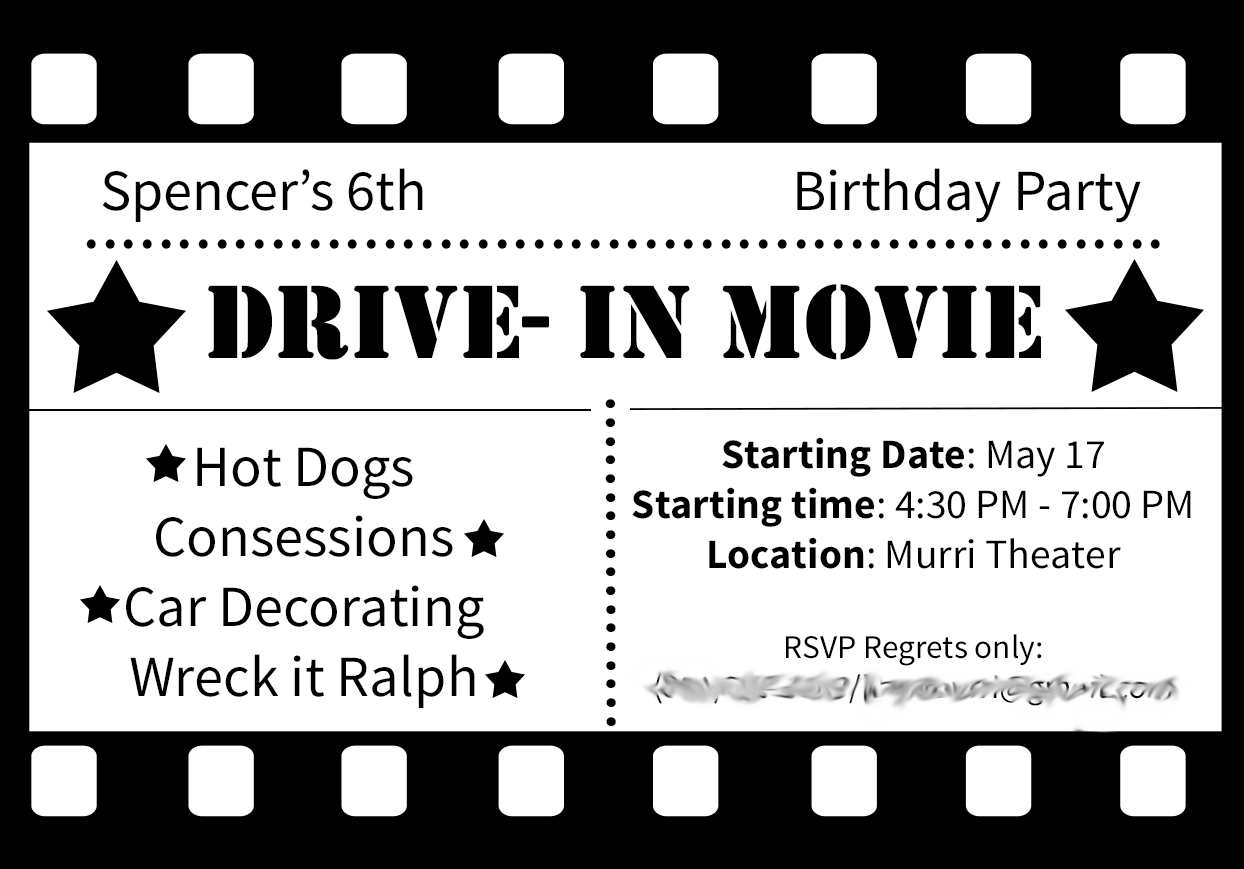 Drive in Movie Birthday Party Ideas by | Movie party, Sassy and Movie