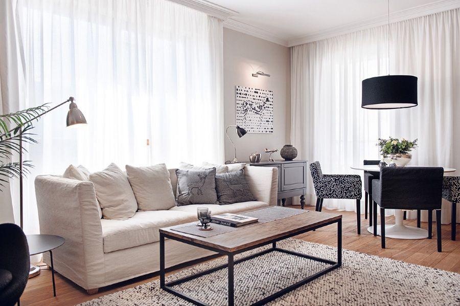 Attractive Tone For Retro Minimalist Ideas For Black And White Living Room  Picture