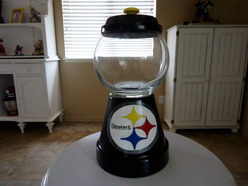 sandylandya@outlook.es Steelers Candy Jar | DIY Projects | Pinterest