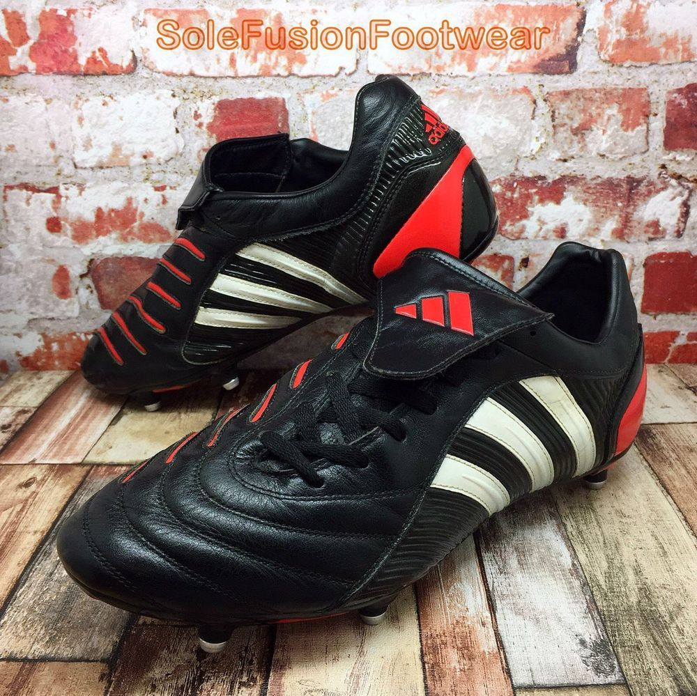 innovative design a1d12 6dc1b Adidas Mens Predator Football Boots Black Red Sz 11 Vtg Pulsado