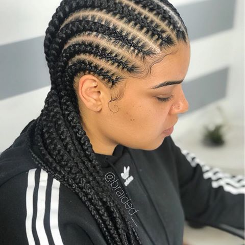 Simplicity 9 10 Braids Amprogel Cute Feedinbraids Beautiful Naturalhai Trenzas Africanas Pegadas Trenzas Afro Peinados Con Trenzas