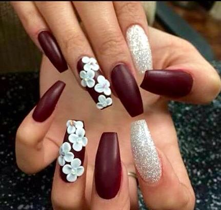 54 Unique and Beautiful Nail Designs To Try Now; Stiletto Nail Designs;3D  nail art; 3D Coffin nails; 3d nails acrylic. 3D flower nail ideas. - 54 Unique And Beautiful 3D Nail Designs To Try Now Nail Art