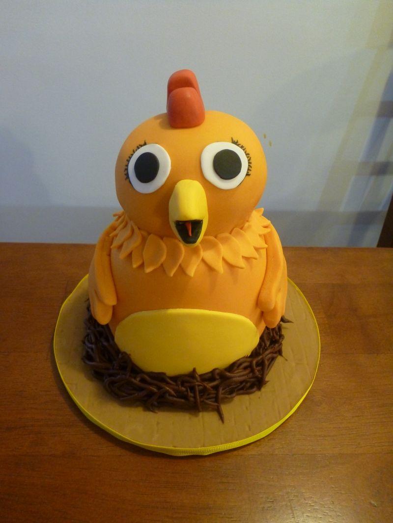 Chica The Chicken Graysons 1st Birthday Cake Chicas Barnyard