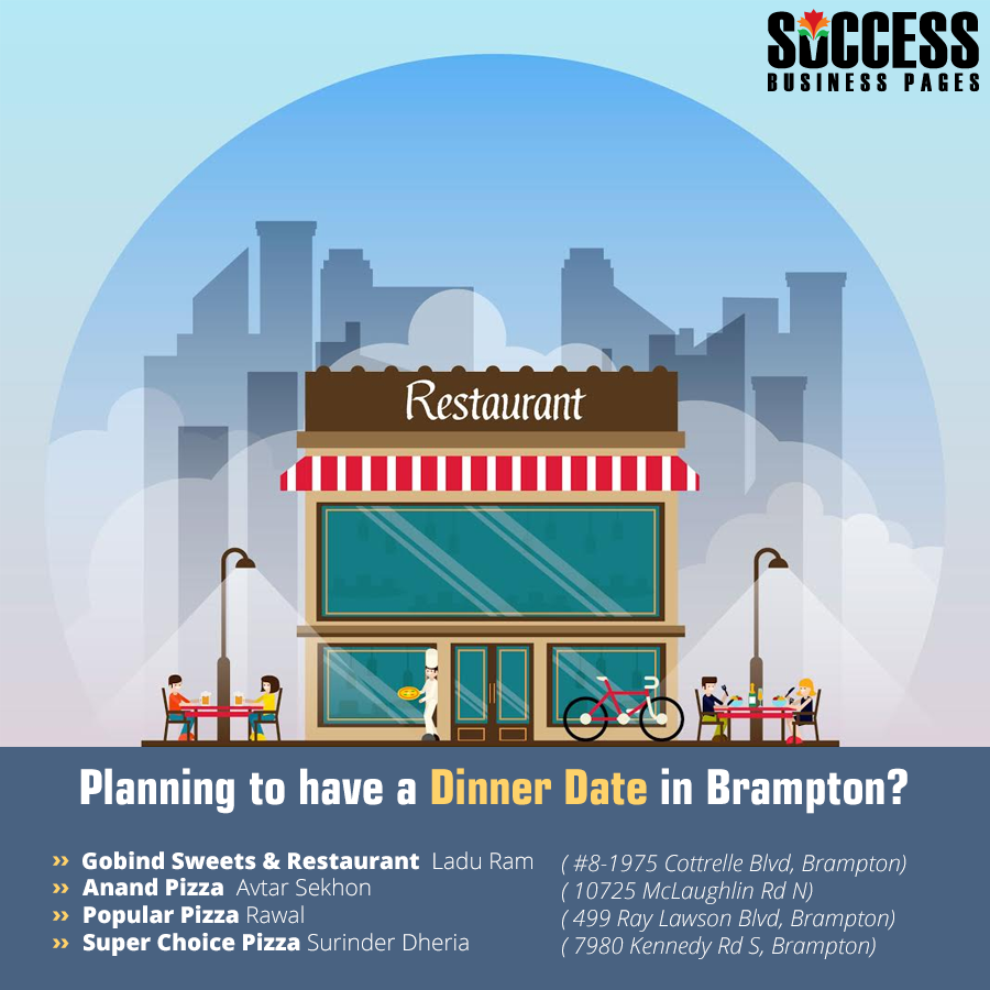 Successbusinesspages provide list of #restaurants_in_Brampton. So ...