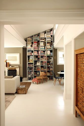 great angled bookcase