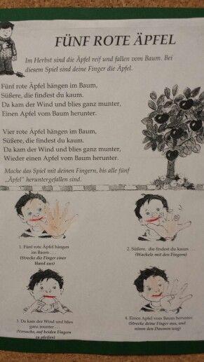 F nf rote pfel herbst kindergarten lieder for Projekte im kindergarten herbst