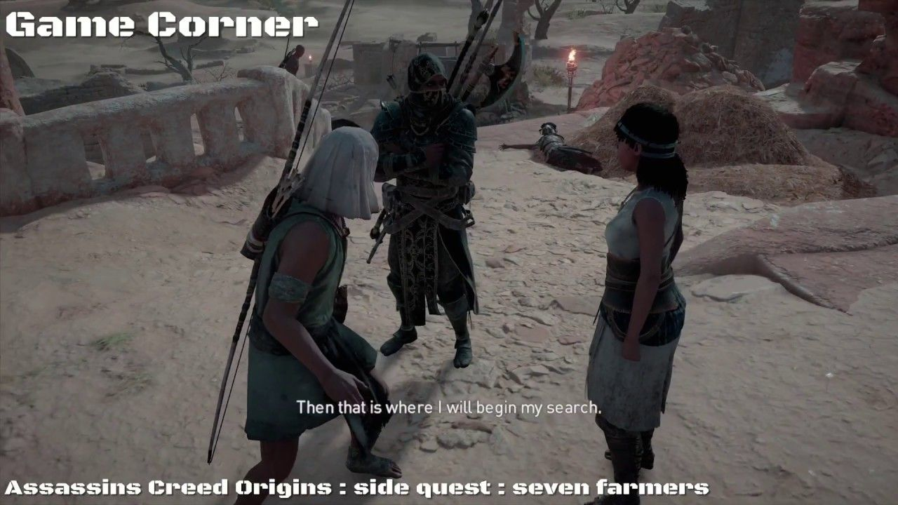 Assassins Creed Origins Side Quest Seven Farmers Hey Everybody