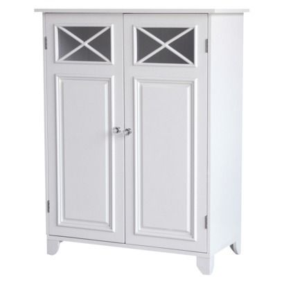 Dawson Floor Cabinet With 2 Doors White Elegant Home Fashions With Images House Styles Primitive Dining Rooms Elegant Homes