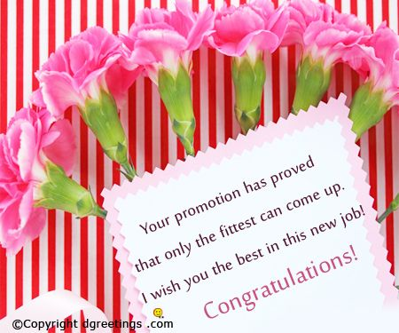 congratulate someone on his or her promotion with this card just