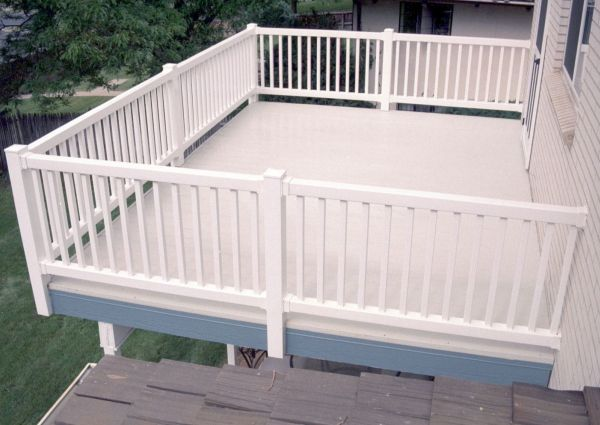 Fiberglass Roof Deck With White Vynyl Picket Fence