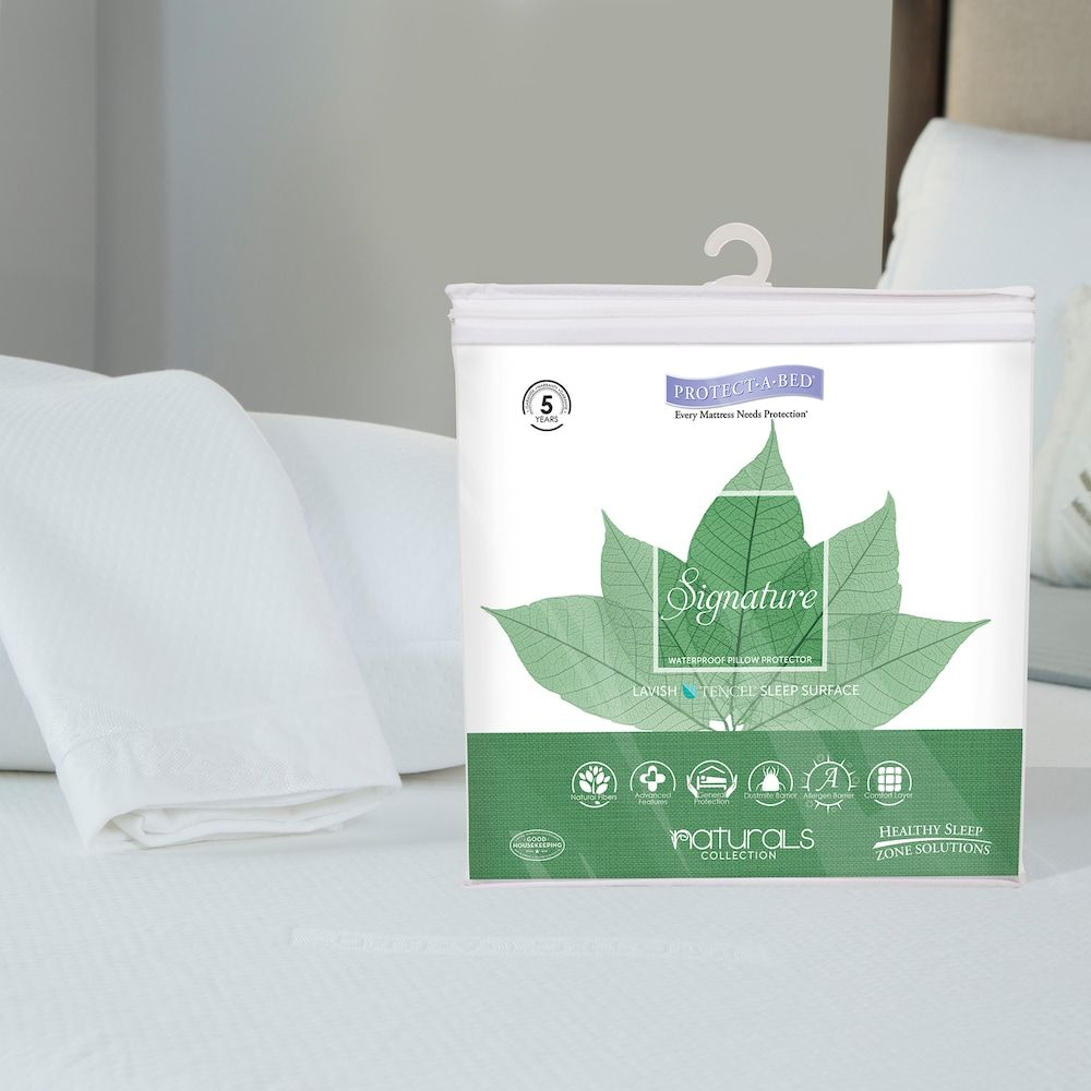 Protect-A-Bed Signature Waterproof Pillow Protector, White | Pinterest