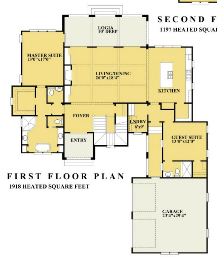 656066 Beautiful Italian 4 Bedroom 3 5 Bath Two Story Plan With